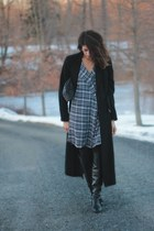 heather gray plaid Mango dress