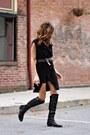 Black-vince-camuto-boots-black-jones-ny-vest