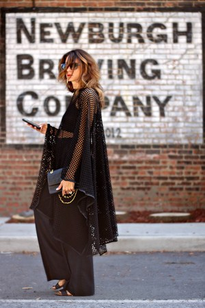 black netted cape - black Stella McCartney pants