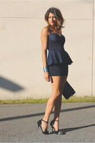 navy asos dress - Jeffrey Campbell heels