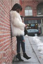 white vintage coat