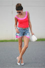 Bubble-gum-diane-von-furstenburg-dress-levis-shorts