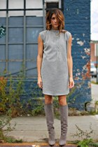 heather gray Reverie dress - heather gray brian atwood boots