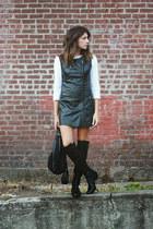 black Vince Camuto boots - black Choies vest