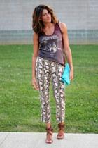 thrifted Loft pants - Diesel top - Chloe heels