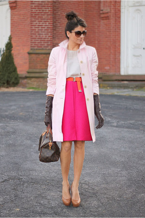 hot pink vintage skirt - light pink banana republic jacket