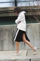 black worn as skirt vintage dress - white asos sweatshirt