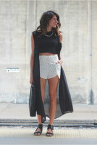 black sheer Alexander Wang cardigan - Urban Outfitters shorts