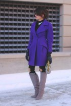 deep purple christian lacroix coat - heather gray brian atwood boots