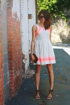 ivory free people dress - Chloe heels