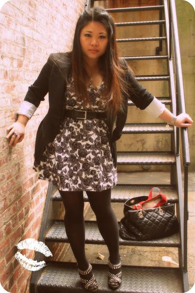 gray Forever21 dress - black White House Black Market blazer - black kate spade