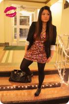 pink Wet Seal dress - black White House Black Market blazer - black kate spade a