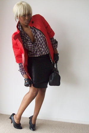 Zara jacket - Levis Vintage Collection shirt - French Connection skirt - Primark