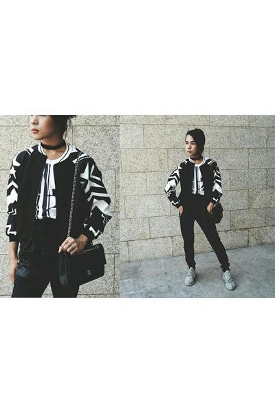 SOMETHING BORROWED jacket - kesh American Apparel shirt - Chanel bag