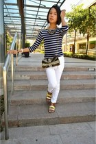 clic clac Hermes bracelet - white skinny Forever 21 jeans - Accessorize bag