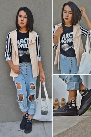 mona lisa The Gypsy Lair socks - Fashion Toast MNL shoes - striped Bayo blazer