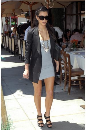 black Alexander Wang blazer - black Alexander Wang - silver H&M dress - gold For