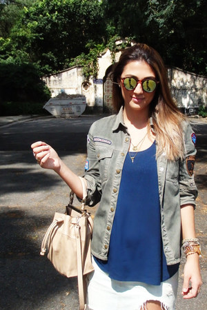 pool jacket - Zara purse - Hering t-shirt - abercrombie and fitch skirt