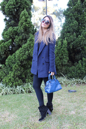 Zara coat - Schutz boots - Isabela Capeto leggings - Zara bag