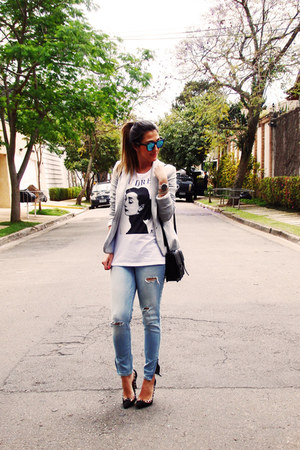 my shoes shoes - abercrombie and fitch jeans - Zara blazer - H&M bag