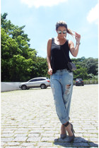 Zara shoes - Forever 21 jeans - Mab Store purse - dior sunglasses - Hering top
