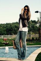 Gucci jacket - Schutz shoes - calvin klein jeans - Gucci bag