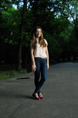 Bershka shirt - Zara jeans - new look bag