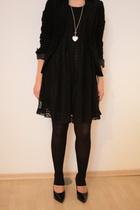 H&M dress - H&M blazer - Pilgrim necklace