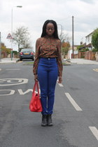made myself blouse - ankle boots Topshop boots