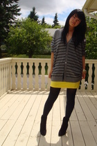yellow worn as a skirt H&M dress - black ankle boot Zara shoes