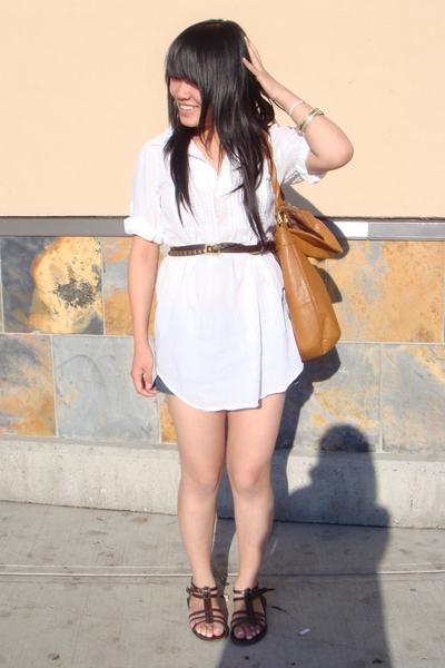 blouse - belt - H&M purse - Spring shoes
