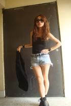NET vest - shorts - Nine West shoes - blazer