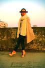 White-scarf-gray-top