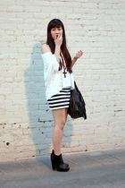 Black, White, and Striped