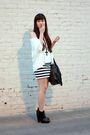 White-cotton-on-dress-white-cotton-on-top-black-h-m-purse-black-sam-edelma