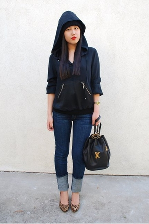 Dana Buchman sweater - Abercrombie & Ftich jeans - Paloma Picasso purse - Deena