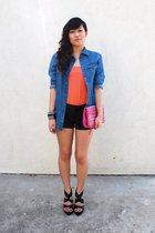 H&M skirt - H&M shirt - forever 21 shorts - Barneys New York accessories - Carlo