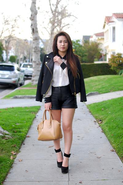 Zara jacket - American Apparel shirt - satchel yeswalker bag