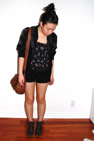 H&M - forever 21 shorts - Zara boots - American Apparel jacket - H&M purse