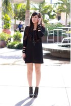 black Kain Label dress - black sam edelman boots