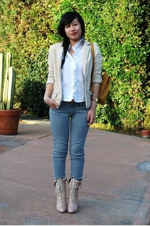 Classiques Entier blouse - American Eagle blazer - Bullhead jeans - coach purse