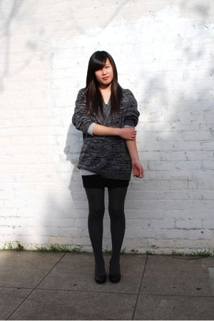 H&M dress - Gap shirt - H&M sweater - Chinese Laundry tights - H&M shoes