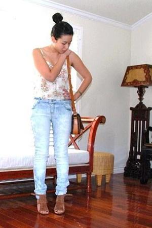 Guess dress - forever 21 jeans - Steve Madden - Louis Vuitton purse - Omega