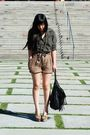 Green-bora-shirt-brown-h-m-shorts-black-h-m-purse-beige-jeffrey-campbell-s