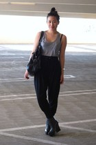 Forever 21 top - Zara pants - H&M purse - alice  olivia for Payless boots