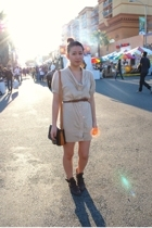 forever 21 dress - forever 21 belt - Zara boots - Louis Vuitton purse