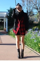 H&M dress - forever 21 shirt - American Apparel jacket - scarf - Chinese Laundry