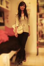 silver cotton on top - gold Forever 21 accessories - white Studded white bag acc