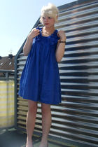 blue H&M dress - white H&M accessories