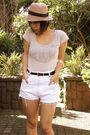 Silver-fashion-house-top-white-diy-cut-off-and-studded-shorts-white-enzo-ang